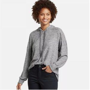 Knox Rose Rib Knit Hoodie Sweatshirt So Soft!